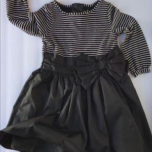 Cherokee 2t Black satin bottom Knit striped top